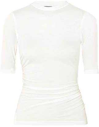 Jacquemus Le Souk Ruched Jersey T-shirt - White