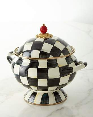 Mackenzie Childs MacKenzie-Childs Courtly Check Enamel Tureen