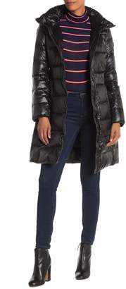 Calvin Klein Hooded Long Down Jacket