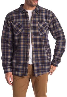 Weatherproof Faux Shearling Lined Plaid Print Polar Fleece Shirt Jacket