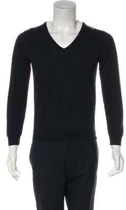 Aquascutum London Woven V-Neck Sweater w/ Tags