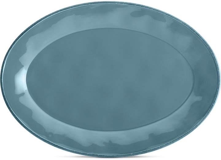 Rachael Ray Cucina Agave Blue Oval Platter