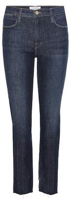 Frame Le High Straight Reverse Raw Stagger jeans