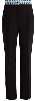 Wales Bonner Tailored Trousers - Womens - Black Blue