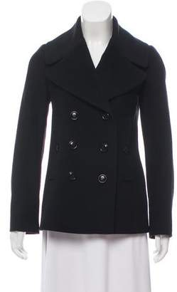 Burberry Wool Collared Long Sleeve Jacket