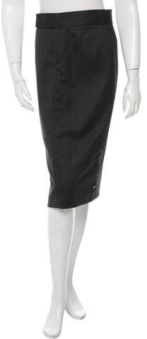 Ralph Lauren Collection Wool Pinstripe Skirt w/ Tags