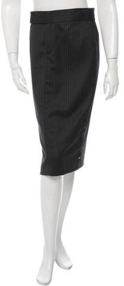 Ralph Lauren Collection Wool Pinstripe Skirt w/ Tags $195 thestylecure.com