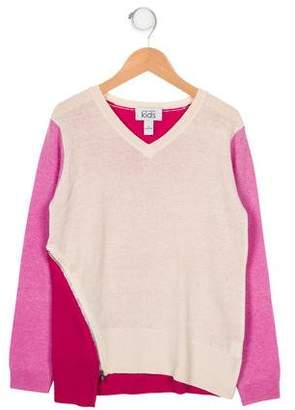 Autumn Cashmere Girls' Merino Wool & Cashmere-Blend Sweater