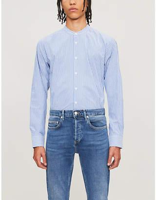 Sandro Pinstriped slim-fit cotton shirt