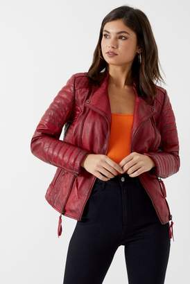 Next Womens Joe Browns Quilted Leather Jacket