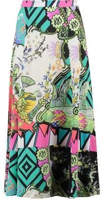 Etro Printed Silk-Georgette Maxi Skirt
