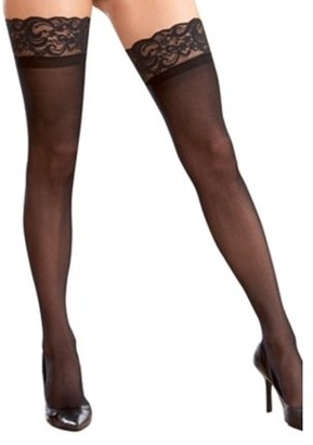 Dreamgirl Sheer Thigh High w/ Lace Top Women's Costume Accessory