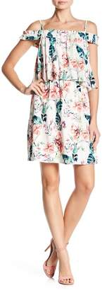 Sanctuary Monaco Floral Cold Shoulder Dress