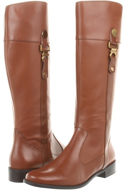 Anne Klein 7Craslee (Cognac/Medium Brown Leather) - Footwear