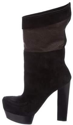 CNC Costume National Suede Platform Boots