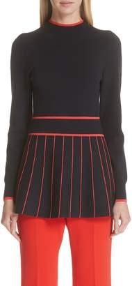 Lela Rose Stripe Knit Top