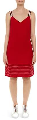 Ted Baker Colour By Numbers Lanchal Stitch-Detail Dress