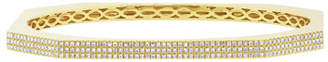 Ron Hami Skyscraper 14k Gold 3-Row Diamond Bangle