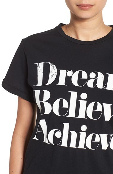 Women's Sincerely Jules 'Dream Believe Achieve' Graphic Tee 2