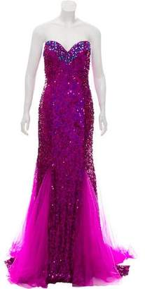 Jovani Strapless Sequin Gown w/ Tags