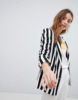 Bershka Bold Stripe Blazer