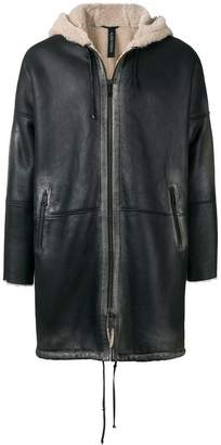 Giorgio Brato hooded zipped coat