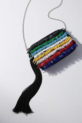 Anthropologie Ezra Beaded Fringe Crossbody Bag