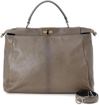 02bf3fb6e2 Fendi Peekaboo Bag Grey - ShopStyle