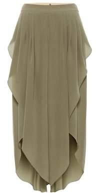 Chloé Asymmetric silk-chiffon pants