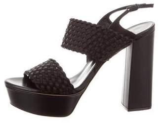 Casadei Woven Platform Sandals w/ Tags
