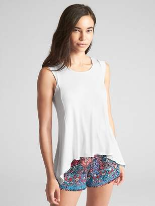 Gap Sleeveless Ribbed Handkerchief Hem Top