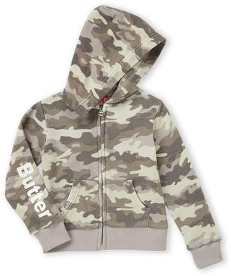 Butter Shoes Girls 4-6x) Grey Camouflage Love Hoodie