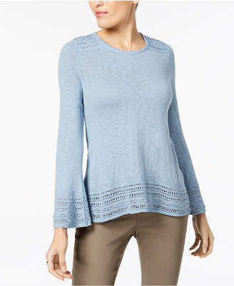 Style&Co. Style & Co Petite Crochet-Trim Sweater, Created for Macy's