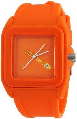 Breo キューブユニセックス現代ファッション腕時計オレンジ
