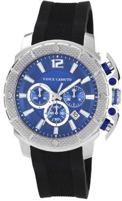 Vince Camuto (ヴィンス カムート) - Vince Camuto Men 's VC / 1019blsv The Strikerシルバートーンブラック樹脂ストラップクロノグラフウォッチ