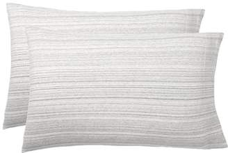 Pottery Barn Teen Space Dye Jersey Pillowcases Set of 2, Gray