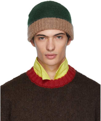 Marni Green and Pink Jersey Beanie