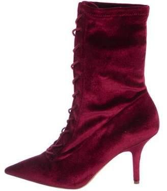 Yeezy Velvet Mid-Calf Boots