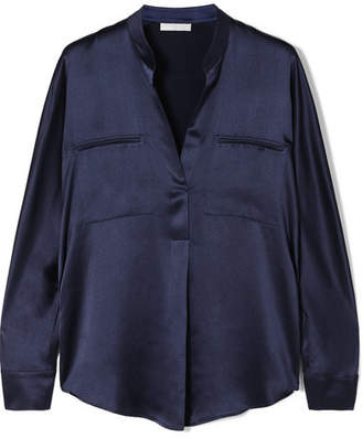 Vince Silk-satin Blouse - Navy