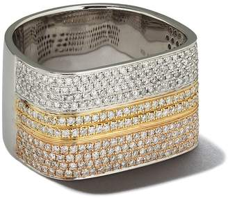 As 29 AS29 18kt yellow, white and rose gold Lana diamond triple thumb ring