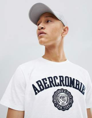 Abercrombie & Fitch Legacy Applique Badge Logo T-Shirt in White