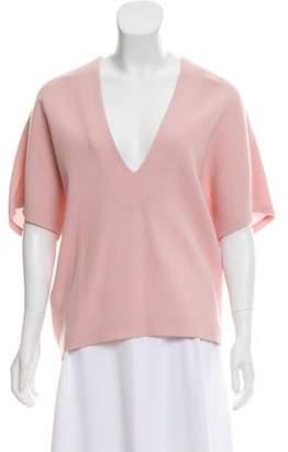 Marissa Webb Short Sleeve Wool Top