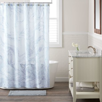 Lauren Conrad Marble Shower Curtain