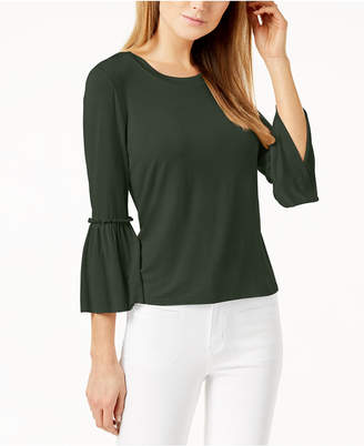 Maison Jules 3/4-Bell-Sleeve Top, Created for Macy's