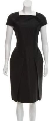 Calvin Klein Collection Pleated Silk Dress Black Pleated Silk Dress