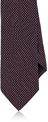 Barneys New York MEN'S NEAT-PATTERN SILK SATIN NECKTIE