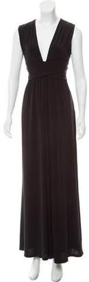 Halston Sleeveless Maxi Dress