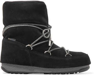 Moon Boot Suede Snow Boots - Black