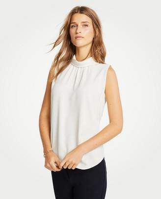 Ann Taylor Sleeveless Mock Neck Top
