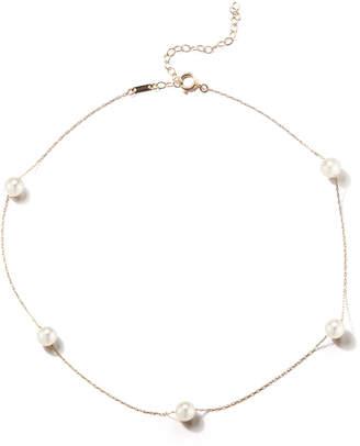 Mizuki 14k Gold Pearl Station Necklace
